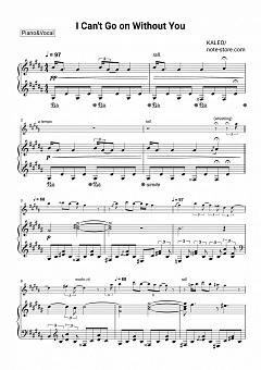 Kaleo - I Can't Go On Without You piano sheet music
