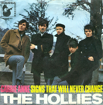The Hollies - Carrie Anne piano sheet music