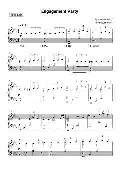 Justin Hurwitz - Engagement Party piano sheet music