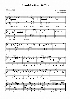 Becky Hill, Weiss - I Could Get Used To This piano sheet music