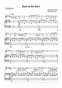 Michael Schulte - Back to the Start piano sheet music