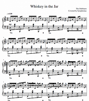 The Dubliners - Whiskey in the Jar piano sheet music