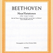 Ludwig van Beethoven - Nine Variations on an Aria by Paisiello piano sheet music