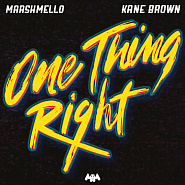 Marshmello and etc - One Thing Right piano sheet music