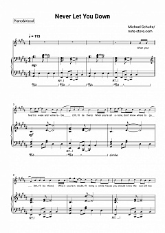 Michael Schulte - Never Let You Down piano sheet music