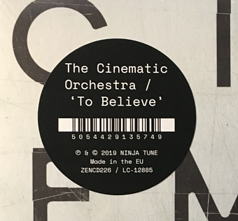 The Cinematic Orchestra - To Believe piano sheet music