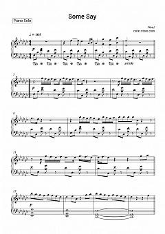 Nea - Some Say piano sheet music