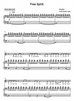 Khalid - Free Spirit piano sheet music