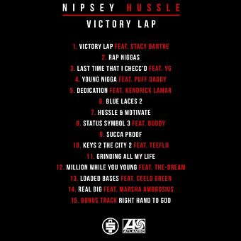 Nipsey Hussle, Stacy Barthe - Victory Lap piano sheet music
