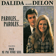 Alain Delon and etc - Paroles, paroles piano sheet music