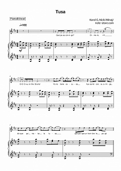 Karol G, Nicki Minaj - Tusa piano sheet music